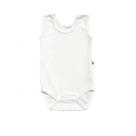 Body na ramiączkach z naturalnej bawełny zapinane w kroku na antyalergiczne napy. Dostępne w rozmiarach 68-86.