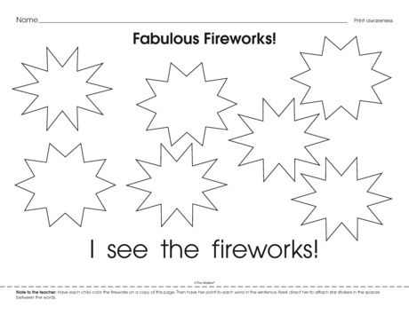 Fabulous Fireworks, Lesson Plans - The Mailbox