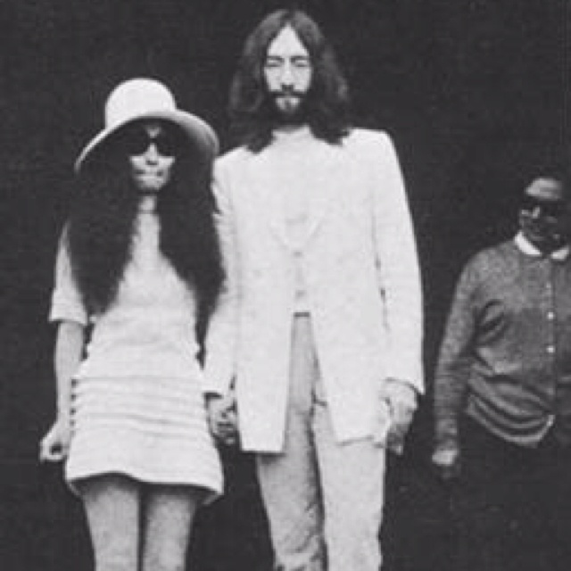 Celebrity Humanist Wedding: Best Wedding Dress: Yoko Ono 60's Crochet
