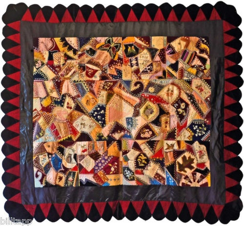 Superb 19th Century Illinois Crazy Quilt Crazy Quilting