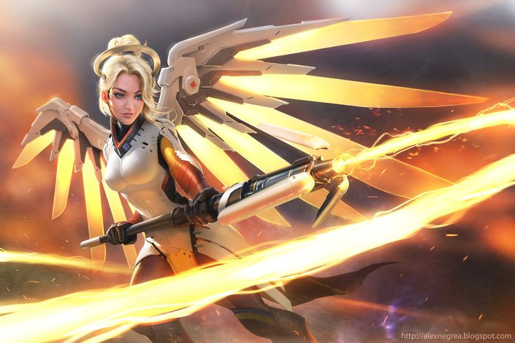 Overwatch Mercy Fanart by alexnegrea.deviantart.com on @DeviantArt