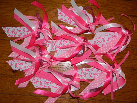 Cancer awareness ponytail streamer. Great for relays, fundraisers, cancer walk, relay for life, etc.