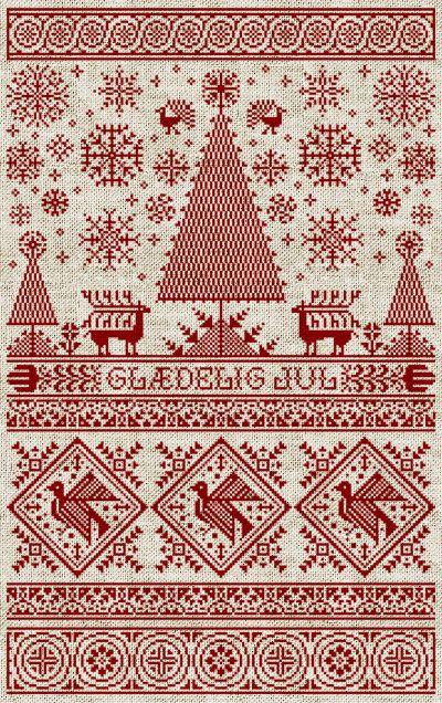 Scandinavian Christmas Sampler PDF Pattern by modernfolk on Etsy, $9.00