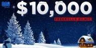 In perioada sarbatorilor 888poker a dat startul promotiei Gr888 Winter Giveaway, prin care jucatorii sunt invitati sa participe in fiecare zi la cate un turneu freeroll $10.000.  http://www.kalipoker.ro/promotii-poker/10-000-freeroll-in-fiecare-zi-la-888poker.html