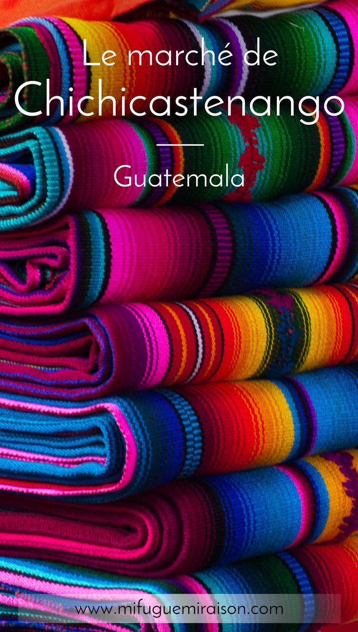 Le village de Chichicastenango, au cœur des montagnes indigènes, abrite le plus grand marché traditionnel du Guatemala. Une expérience riche en couleurs ! #chichicastenango #guatemala #marché #atitlan #lac #article #blog #travelblogger #artisanat #voyage