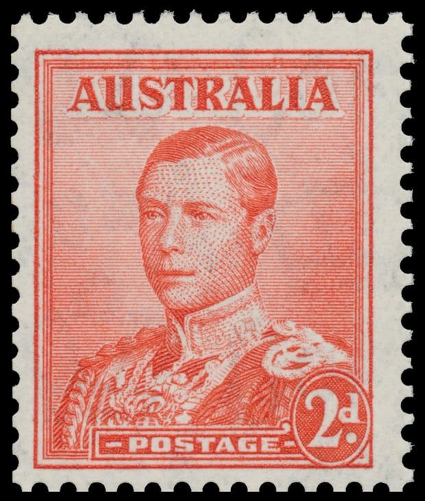 "Australia 2d scarlet ""King Edward VIII"""
