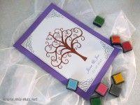 Svatební strom č.2 - netradiční kniha hostů - A4
