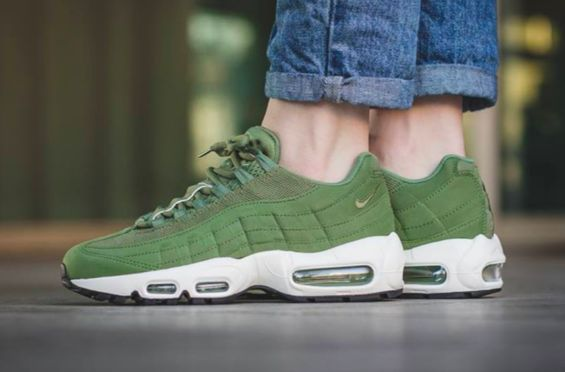 f7c2ab756a The Nike Air Max 95 Palm Green Is A Versatile Pair | Celebrity style |  Womens fashion sneakers, Fashion, Nike