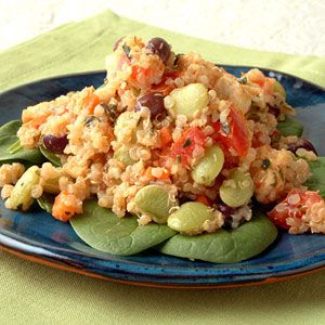 Black Bean-Quinoa Salad with Basil-Lemon Dressing | MyRecipes.com
