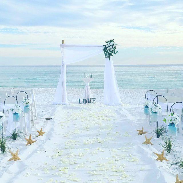 Affordable Florida Barefoot Beach Wedding Packages Small Beach Weddings Beach Wedding Aisles Beach Wedding Packages