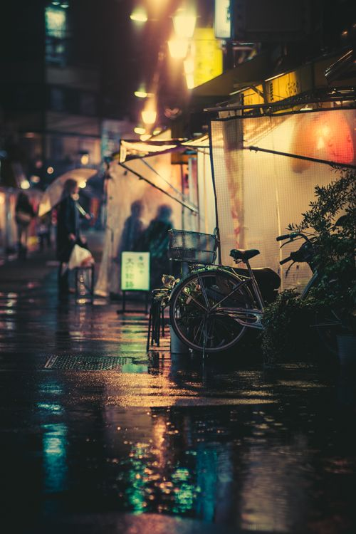 Japan street life on a rainy day ~ By Masashi Wakui