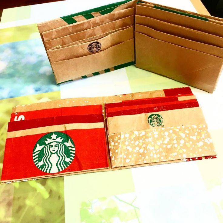 身近なコーヒーショップであるStarbucks Coffee(スターバックスコーヒー)のロゴは、緑が基調になっているシックなデザイン。そんなスタバのおしゃれな紙袋をリメイクして、ペーパーウォレットを手作りできるのをご存知ですか?ハサミや接着剤を使って折り紙するだけで、お札やカードの収納ケースとして実用的に使えるウォレットをDIYできるんです♪手順の動画を参考にしながらぜひ手作りしてみてくださいね♪   ページ1
