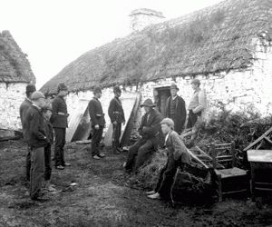 The Irish Potato Famine of 1845 - English landlords have arrived to expel their Irish tenants whose crop failures bankrupt them.