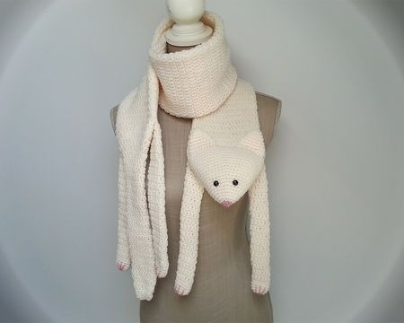 Patron écharpe chat au crochet   patron PDF   tutoriel crochet   DIY    fausse taxidermie fcac6b71975