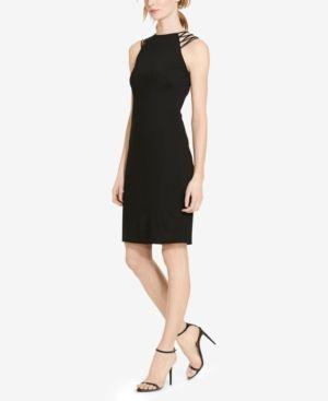 Lauren Ralph Lauren Petite Crisscross-Strap Jersey Dress - Black 12P