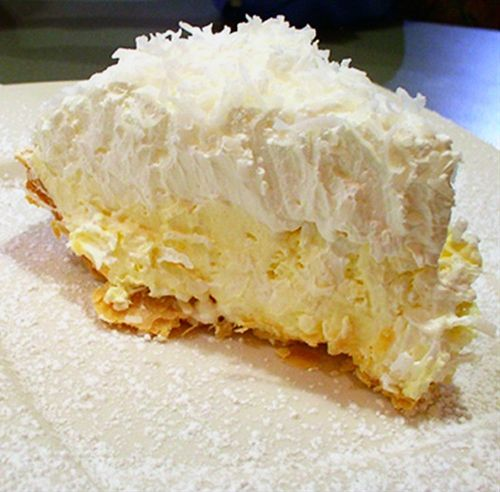 Coconut Banana Cream Pie: Heads up coconut lovers, this pie is amazing,