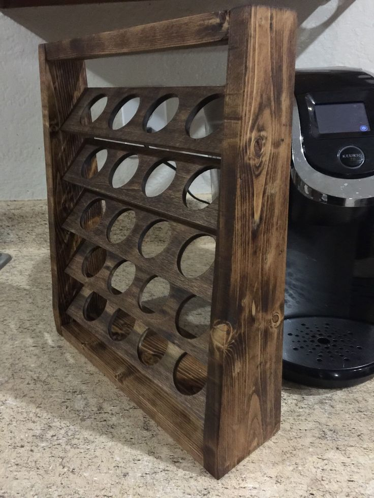 25 best ideas about k cup holders on pinterest k cup for Coffee rack diy