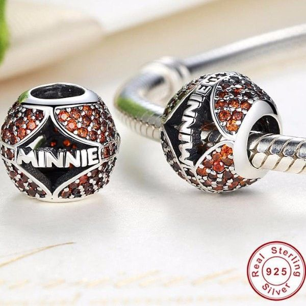 Charms   Silver Red minnie Charm