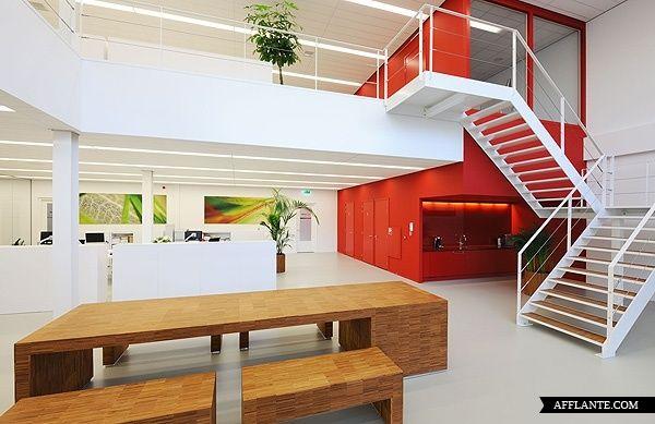 Nice open office space with mezzanine beautiful spaces things p - Open mezzanine ...