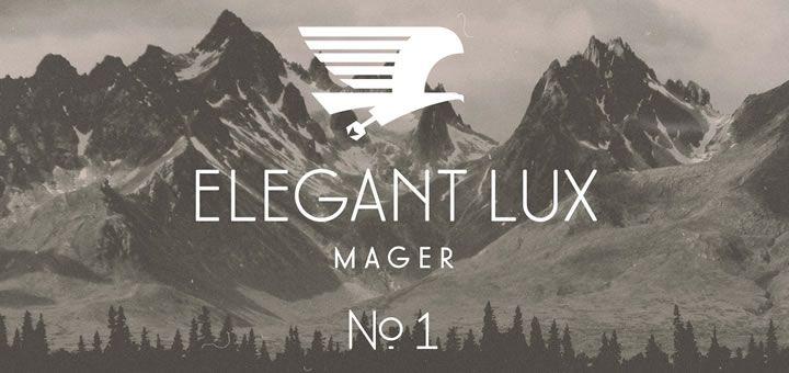 Elegant Lux Mager bazuje na szkicach Hansa Möhringa z lat 1928-1929 i mimo, że ciągle jest jeszcze nie skończony to już zawiera ponad 600 glifów, obsługuje polski język i ma sporo ligatur oraz alternatywnych znaków.