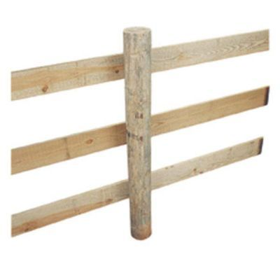 CCA Pressure Treated Wood Post, 5 in. x 8 ft.