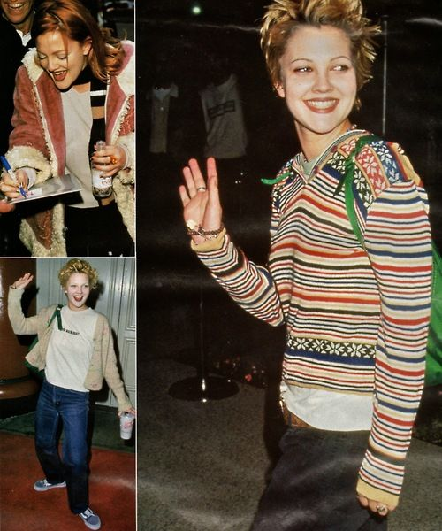 thesethingsthatamass:    Drew Barrymore, circa 1995.  From an old scrapbook of magazine cuttings.    Currently in the process of scanning a lot of my old magazine and putting them up on this blog:  http://thesethingsthatamass.tumblr.com/  Probably a lot of '90s stuff will be up there if that be yo' bag, but I'll reblog the Drew-related shit on here.  Peace and daisies!
