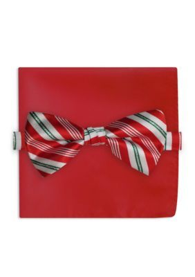 Holiday Ties By Hallmark Men's Candy Cane Stripe Tie - Red - One Size