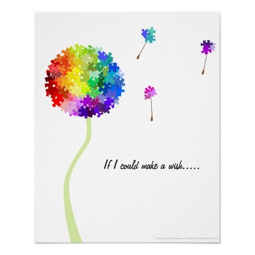 autism awareness | Autism Awareness Dandelion Wishes Poster from Zazzle.com