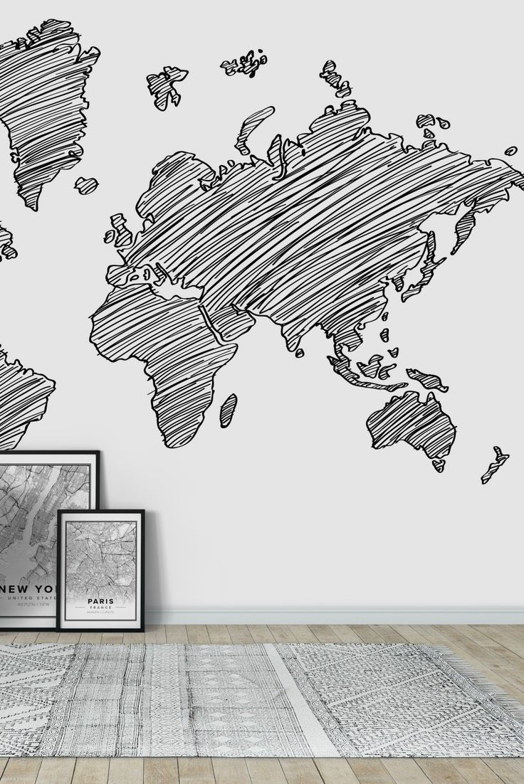 31 best world map wall murals images on pinterest photo drawn world map wall mural wallpaper