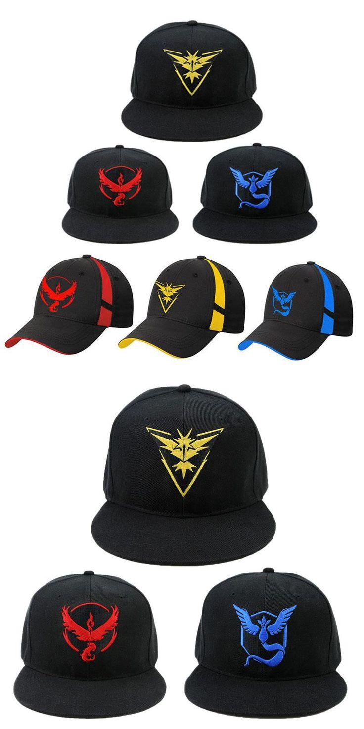[Visit to Buy] Cosplay Mobile game Pokemon Go Team Valor Team Mystic Team Instinct snapback baseball Cap hat #Advertisement