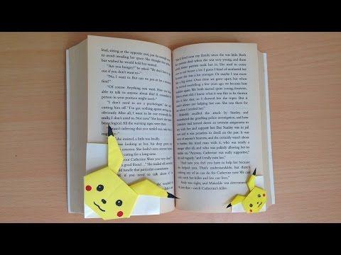折り紙 ポケモン ピカチュウ しおり 簡単な折り方(niceno1)Origami pokemon pikachu bookmark - YouTube