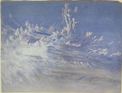"Study of Clouds in Turner's ""Campo Santo, Venice,"" John Ruskin, 1859 - 1860."