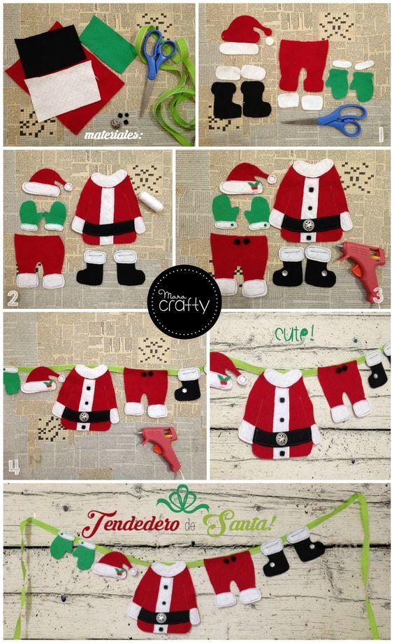 Esta Navidad decora con mucha creatividad a partir de ideas como este tendedero. ¡Nos encanta!