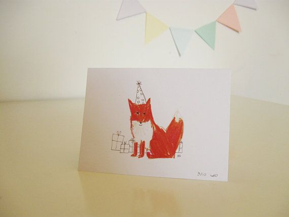 Happy Birthday Fox Card