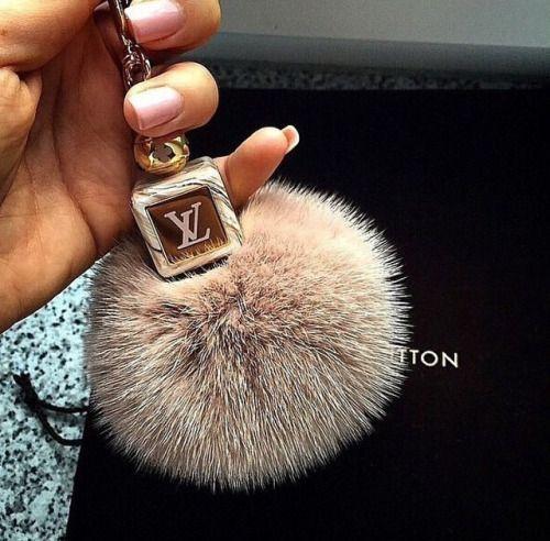 LV Pom Pom keychain.. I want this!! :)