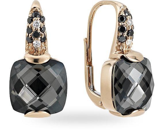 ZGOR0964RRBQDI - Orecchino in oro rose 18 kt. con 0.04 ct. di diamante