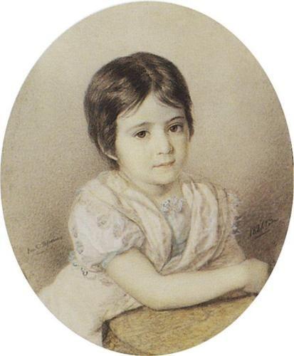 Portrait of Maria Kikina as a Child - Karl Bryullov: