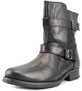 Aldo Walsh Men Round Toe Leather Black Boot.
