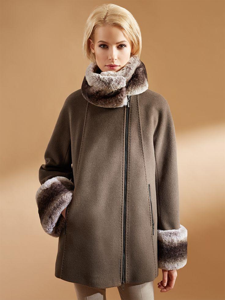 """Трендовая куртка силуэта """"трапеция"""" из теплой ворсовой ткани. Остро-модная деталь: съемные манжеты и горжетка из искусственной шиншиллы. Модель имеет рукав кроя кимоно, ассиметричную застежку на двухзамковую молнию.В этой модели использован инновационный утеплитель Raft Pro Thermo, созданный с использованием запатентованного биополимера от """"DuPont  Sorona"""", обладающий превосходными свойствами сохранения тепла, легкости и простоты эксплуатаци..."""