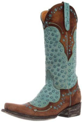 Old Gringo Women's Tabetha Western Boot,Aqua/Brass,10 B US Old Gringo. $517.50