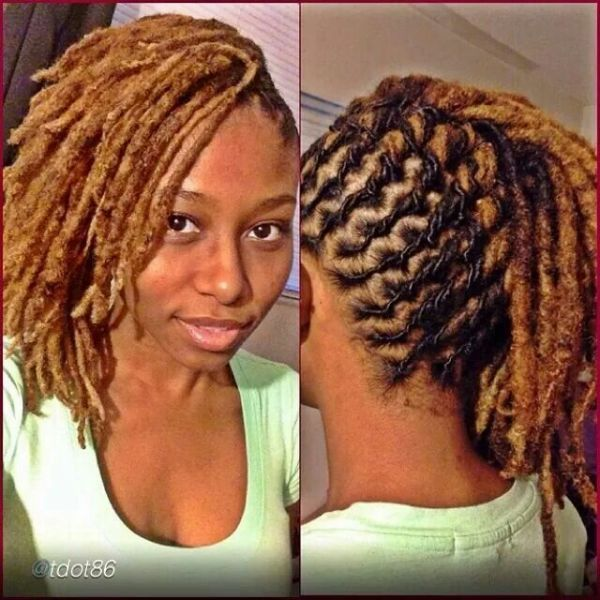 Magnificent 1000 Images About Braiding Re Twisting And Styling Locs On Short Hairstyles Gunalazisus