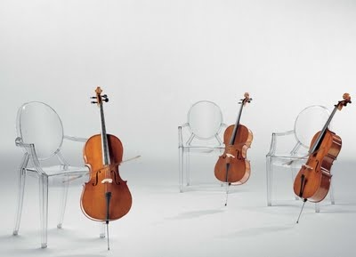 The fabulous Louis Ghost Chairs for Kartell by Philippe StarckPhilippe Starck, Ghosts Armchairs, Krzesło Louis, Interiors Design,  Violoncello, Ghosts 10, Furniture, Cellos, Louis Ghosts Chairs