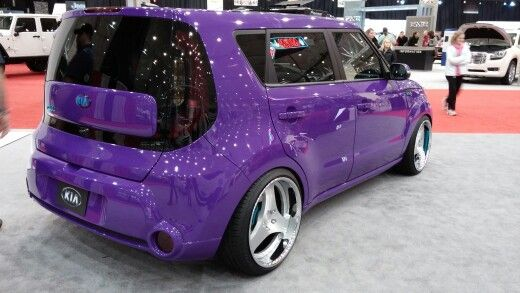 Kia soul I would kill for my car to be this color I love purple