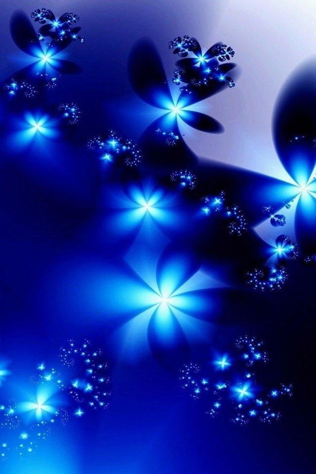 Beautiful Blue Roses And Hearts | Beautiful Blue Abstract Flower Flori Iphone 4 Wallpapers Free 640x960 ...