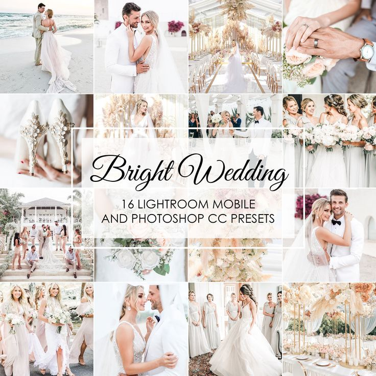 Wedding Presets 16 Presets Bright Wedding Lightroom Etsy Wedding Presets Bright Wedding Lightroom