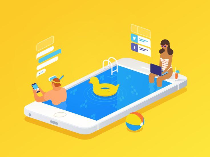 Always Online by kajdax #Design Popular #Dribbble #shots