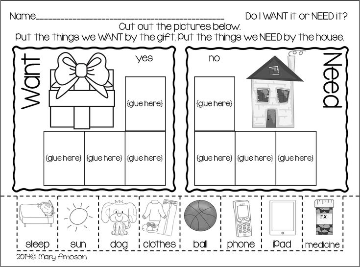 1000+ images about kindergarten social studies - needs and wants ...