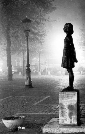 Utrecht, Netherlands, Postwar, A statue of Anne Frank.                                                                                                                                                                                 More