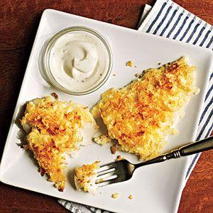 Chip-Crusted Fish Fillets | MyRecipes.com