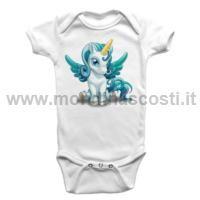 Body Bambino Baby Unicorno Azzurro